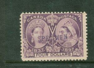 Canada #64SP Mint Fine Original Gum Hinged With Specimen Overprint
