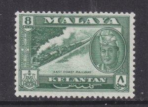 KELANTAN, 1962 Sultan Yahya Petra 8c. Myrtle Green, lhm.