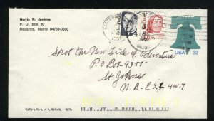 USA #U632   pus 2 stamps -2  1995 used PD