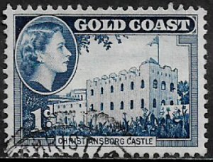 Gold Coast #149 Used Stamp - Christiansborg Castle