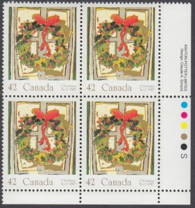 Canada - #1149 Christmas Plate Block - MNH