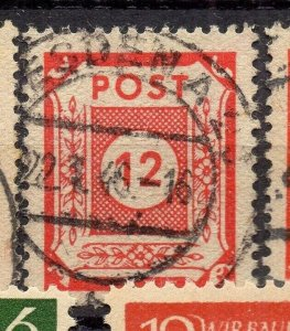 Germany Ost Sachsen 1945 Early Issue Fine Used 12pf. NW-05677