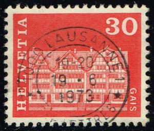 Switzerland #444 Gabled House in Gais; Used (0.25)