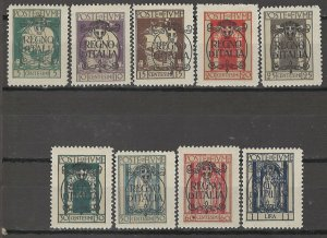 COLLECTION LOT # 5031 FIUME #184-92 MH 1924 CV+$21