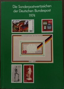 Dt. Bundespost 1974 BRD and Berlin MNH Complete Year in booklet