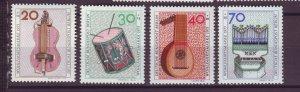 J24945 JLstamps 1973 germany berlin set mnh #9nb101-4 music