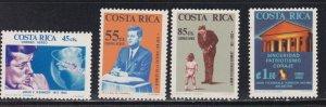 Costa Rica # C417-420., John F. Kennedy, NH, 1/2 Cat