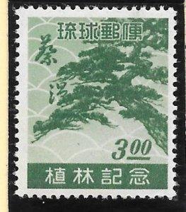 RYUKYU Scott #15  Mint NH 3 Yen Pine Tree 2018 CV $40.00