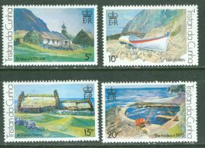 Tristan da Cunha MNH 234-7 Island Views By Svensson 1973