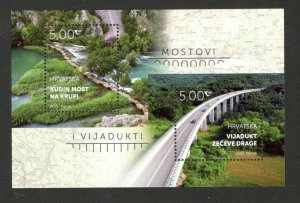CROATIA - MNH BLOCK - BRIDGES AND VIADUCTS- 2021.