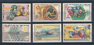 Czechoslovakia  - Tokyo Olympic Games MNH Set #1258-63 (1964)