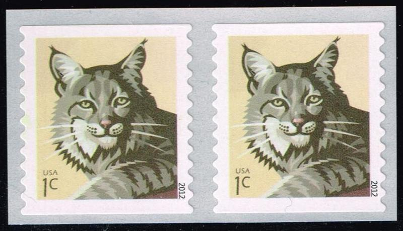 US #4672 Bobcat; MNH Pair (0.50)
