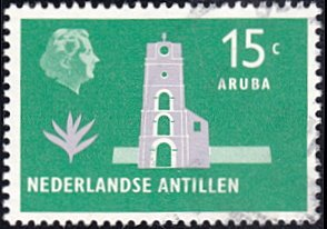 Netherlands Antilles # 247 used ~ 15¢ Fort Willem III, Aruba