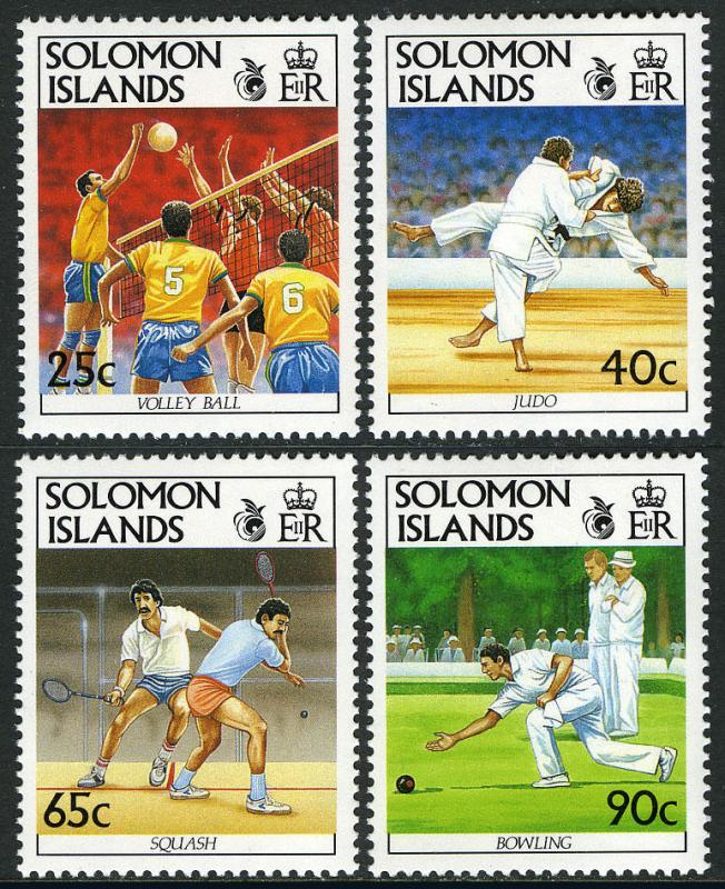Solomon Islands 694-697,MI 754-757,MNH.8th South Pacific Games.Judo,Squash,1991