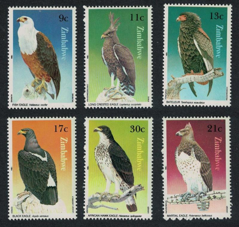 Zimbabwe Birds of Prey 6v SG#647-652