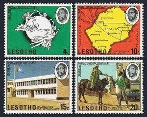 Lesotho 166-169,MNH.Michel 166-169. UPU-100,1974.Map,Horseback mailman,P.O.