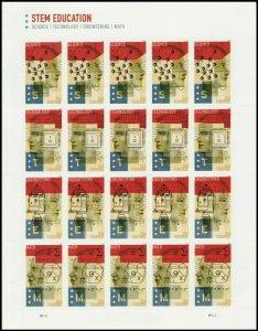 STEM Education Sheet of 20 Forever Postage Stamps Scott 5276-9
