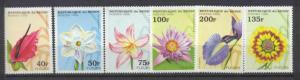 Benin 768-73 MNH Flowers SCV3.90