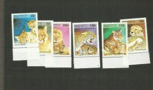 BENIN 1995LIONS SCOTT 816-21 MNH