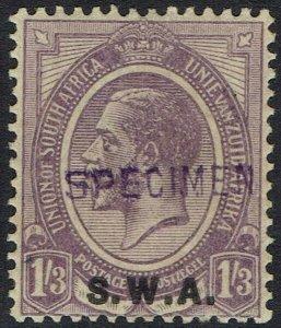 SOUTH WEST AFRICA 1927 KGV 1/3 SPECIMEN