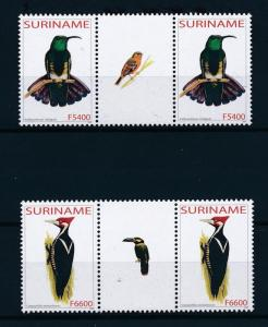 [61035] Surinam 2003 Birds Vögel Oiseaux Set in 2 Gutter pairs MNH 8294420015