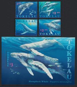Tokelau Humpback Whales 4v+MS SG#259-MS263