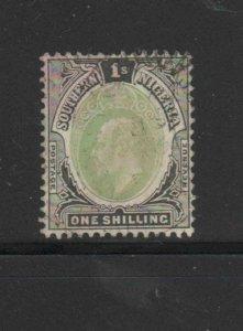SOUTHERN NIGERIA #27  1906  1sh  KING EDWARD VII       F-VF USED