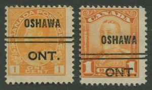 CANADA PRECANCEL OSHAWA 1-105d, 1-149