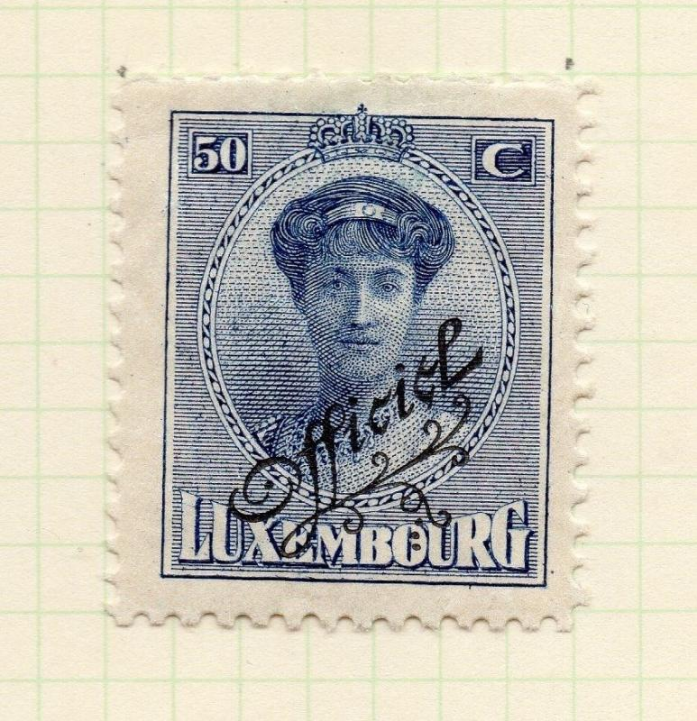 Luxembourg 1921-22 Early Issue Fine Mint Hinged 50c. Official Optd 253205