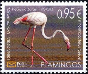 MONTENEGRO/2015 - Fauna Flamingo, MNH