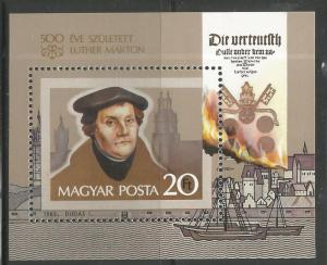 HUNGARY 2796  MNH,  MARTIN LUTHER
