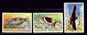 Indonesia 959-61 MNH 1975 Fish