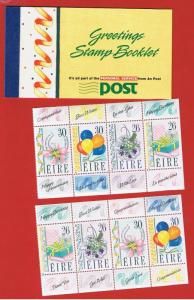 Ireland #795-798  MNH OG Greetings Booklet 2 panes of 4   Free S/H