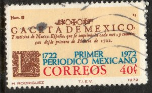 MEXICO 1039, 250th Anniversary of the First Newspaper Used. VF. (94)