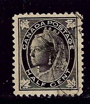 Canada 66 Used 1897 surcharge