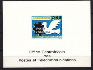 Z3854 Central African #c86 1970 united nations imperf deluxe proof, bird dove