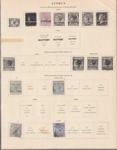 CYPRUS  INTERESTING COLLECTION ON ALBUM PAGES - Y808