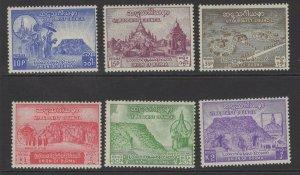 BURMA SG151/6 1954 6th BUDDHIST COUNCIL MTD MINT