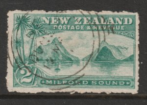 New Zealand an 1898 postally used 2/-