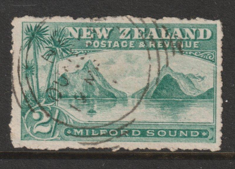 New Zealand an 1898 postally used 2/-