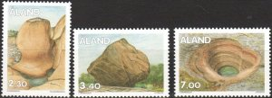 Aland 1995 #96,102,105 MNH. Rock formations