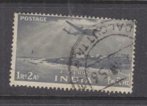 INDIA, 1955 1r.2a. Grey, used.