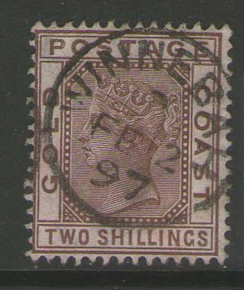 Gold Coast 1884 QV SG 19a FU