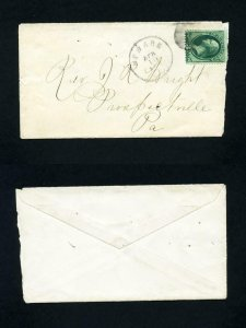 Cover from Newark, New Jersey to Prospectville, PA dated 4-10-1870's