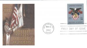 #3560 US Military Academy Fleetwood FDC