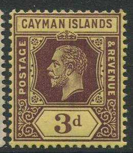 Cayman Islands #37 KGV MLH  Scott CV. $3.00