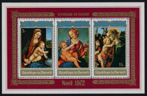 Burundi 410a MNH Christmas, Art, Paintings
