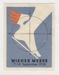 Wiener Messe 1958 Cinderella Poster Stamp Reklamemarken A7P5F209