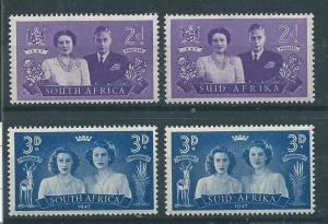 South Africa #104a-b,105a-b   (MNH) CV $1.00