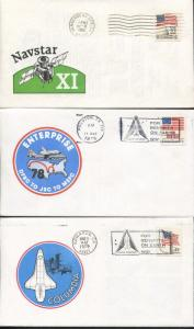 Lot of 12 Covers USA Space Explorations Discovery Enterprise Orbiter NavStar